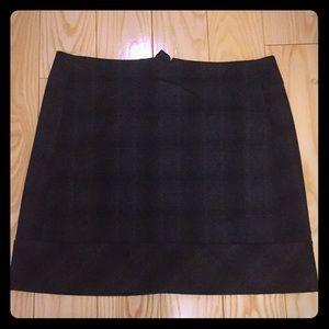 kenar wool plaid skirt